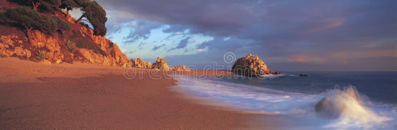 Spiaggia spagnola panoramica fotografia stock
