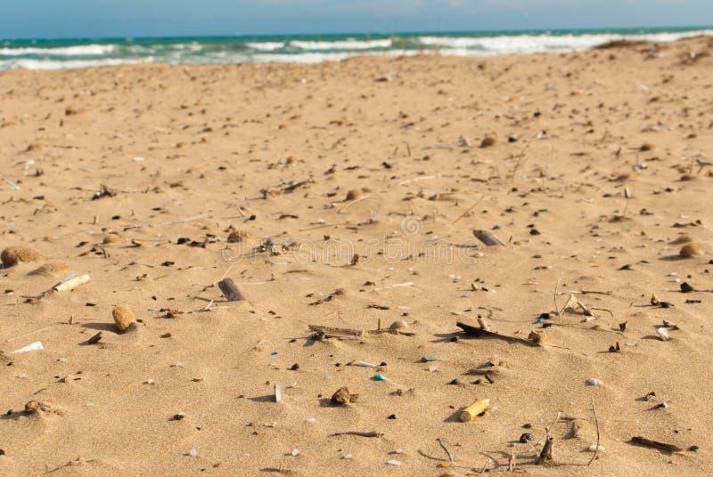 Spiaggia sporca immagine stock