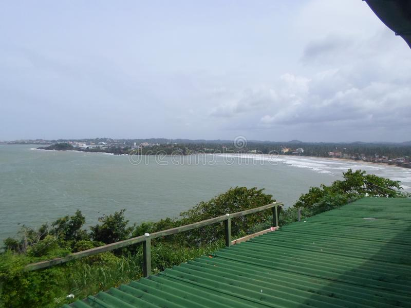 Spiaggia Sri Lanka di Beautyful Galle immagini stock