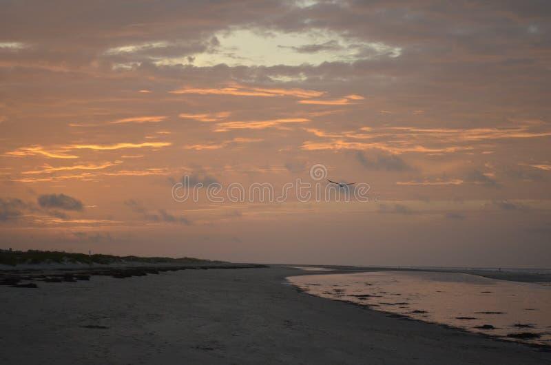 Spiaggia sull'isola di Sullivan fotografia stock libera da diritti