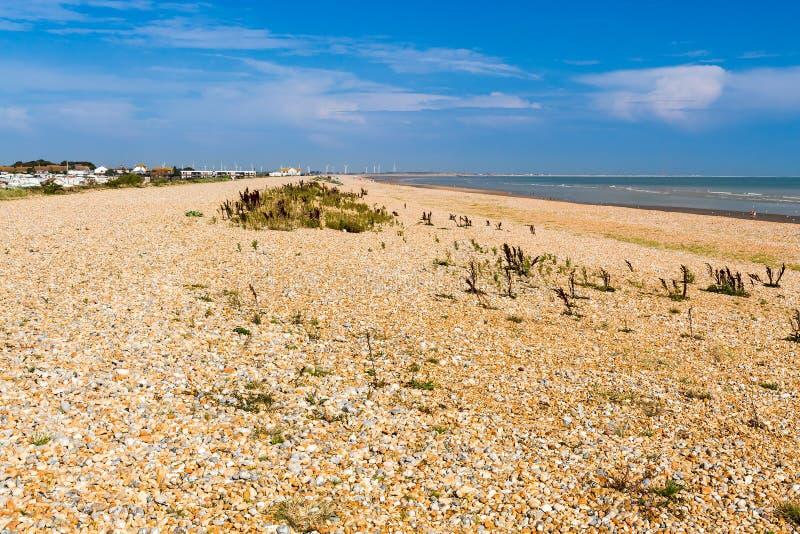 Spiaggia Sussex orientale Inghilterra di Winchelsea fotografia stock libera da diritti