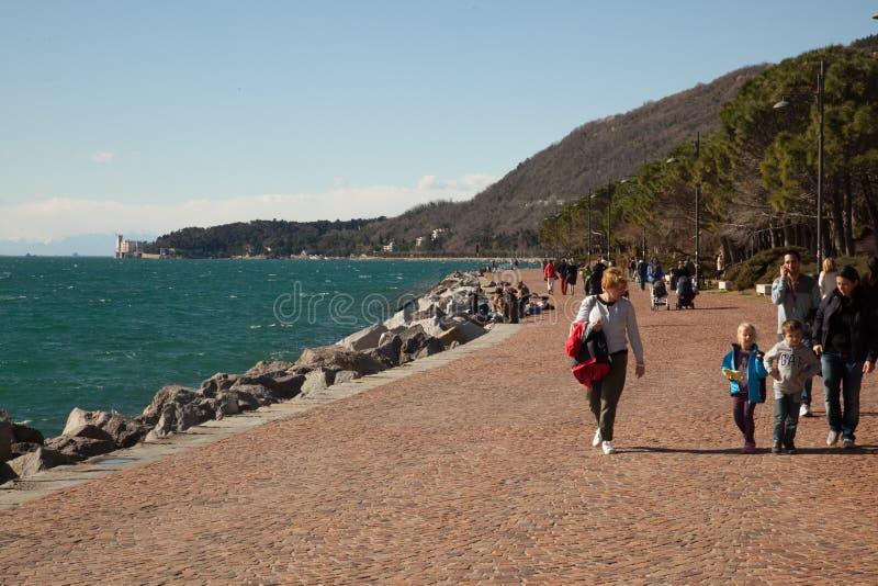 Spiaggia a Trieste immagine stock libera da diritti