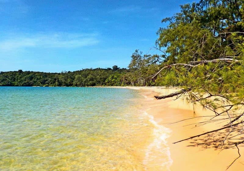 Spiaggia tropicale in Cambogia fotografie stock libere da diritti
