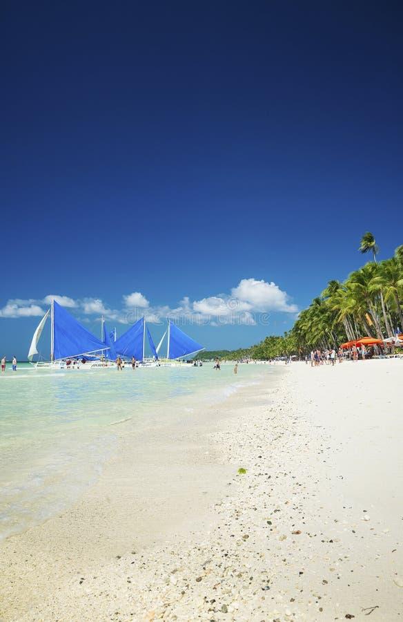 Spiaggia tropicale dell'isola di Boracay in Filippine immagine stock libera da diritti