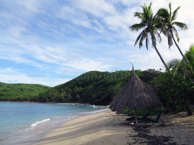 Spiaggia tropicale nel Fiji fotografia stock