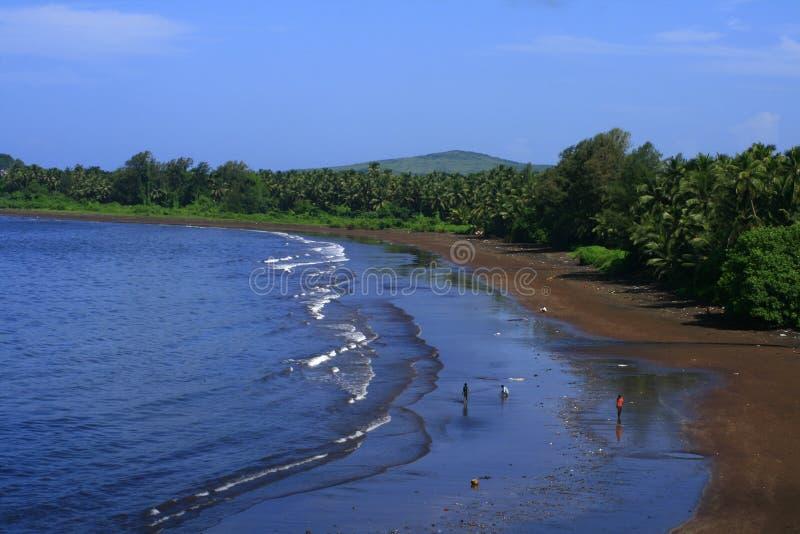 Spiaggia tropicale scenica fotografia stock libera da diritti
