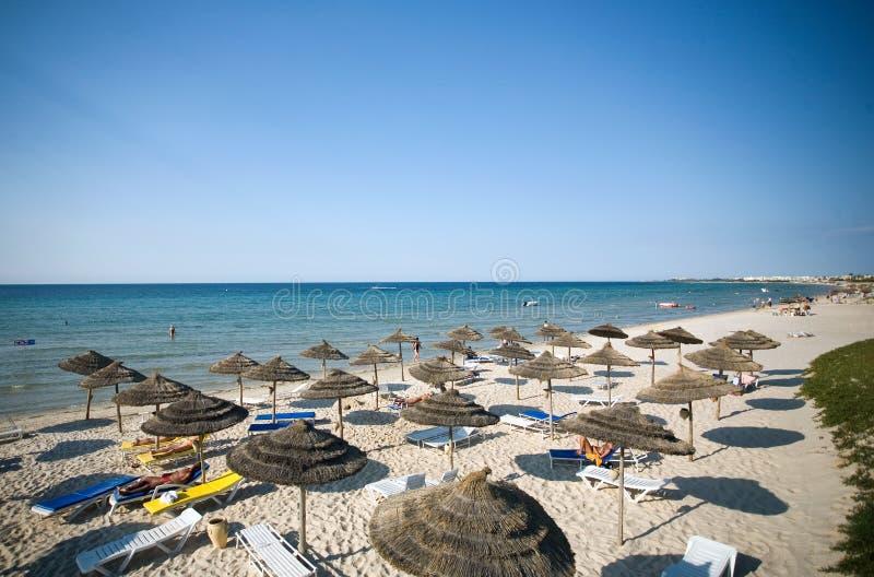 Spiaggia in Tunisia immagine stock libera da diritti