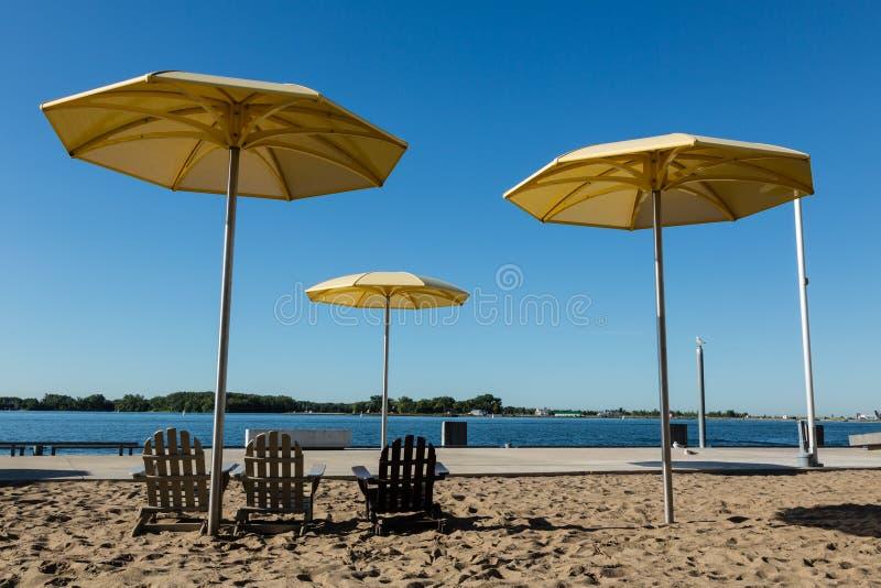 Spiaggia urbana fotografia stock libera da diritti