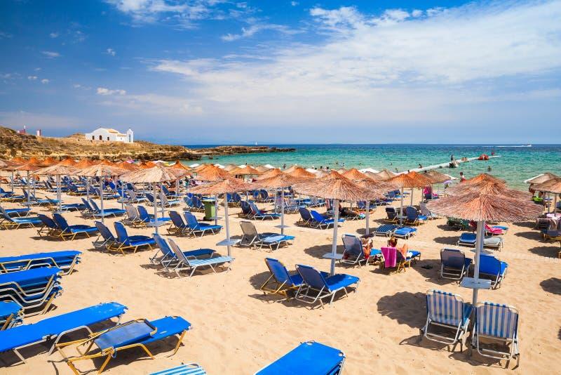 Spiaggia in Vassilikos, Zacinto, Grecia fotografia stock libera da diritti
