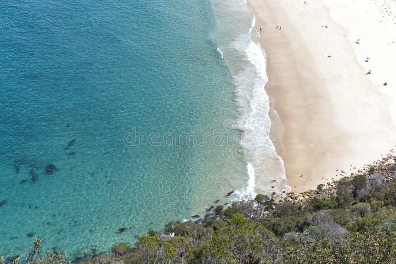 Spiaggia vicino a Nelson Bay fotografie stock libere da diritti