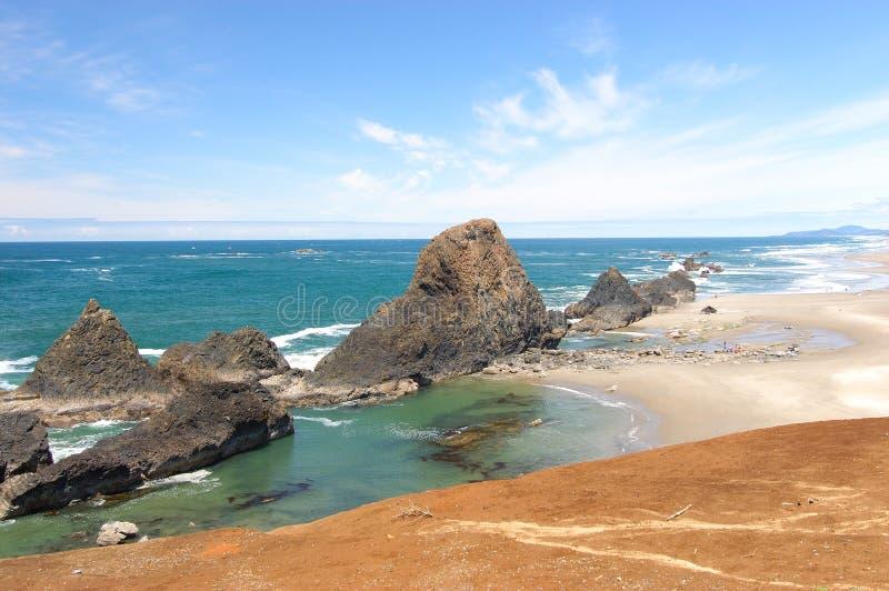 Spiaggia View1 del litorale dell'Oregon fotografie stock