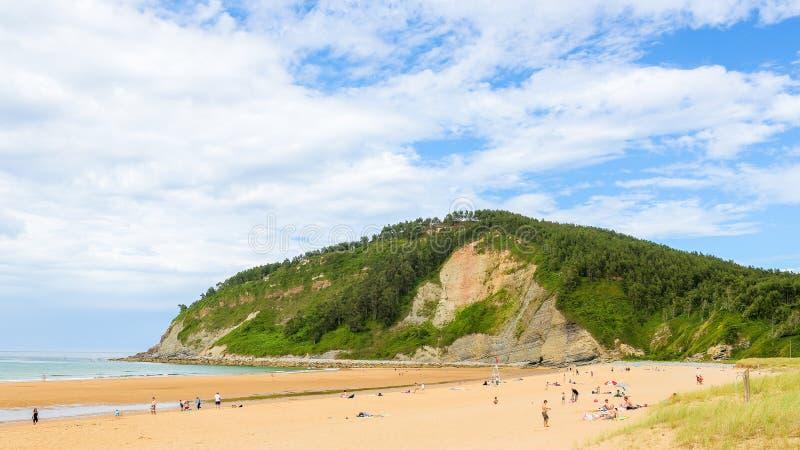 Spiaggia a Villaviciosa, Asturie immagini stock libere da diritti