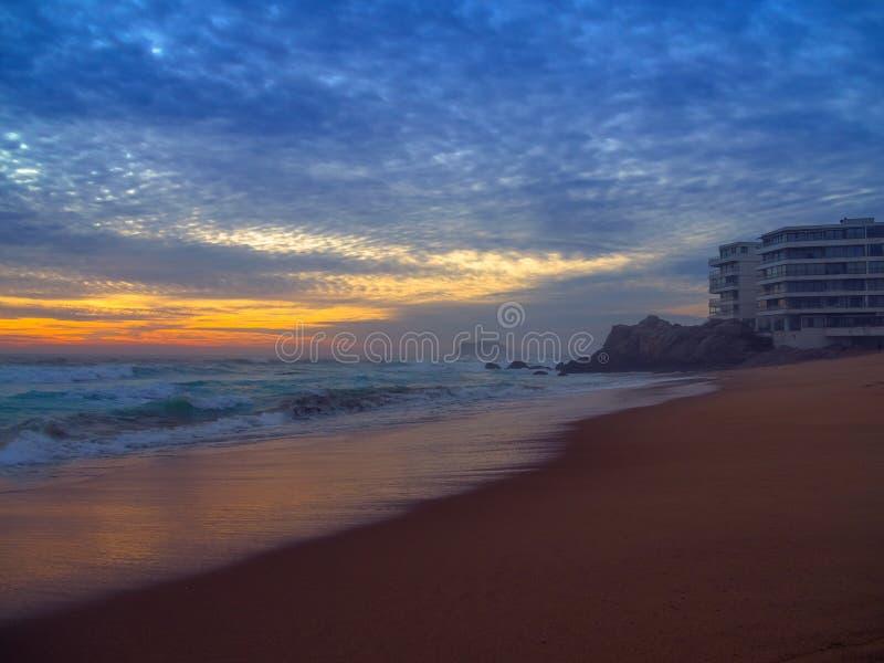 Spiaggia a Vina del Mar fotografia stock libera da diritti