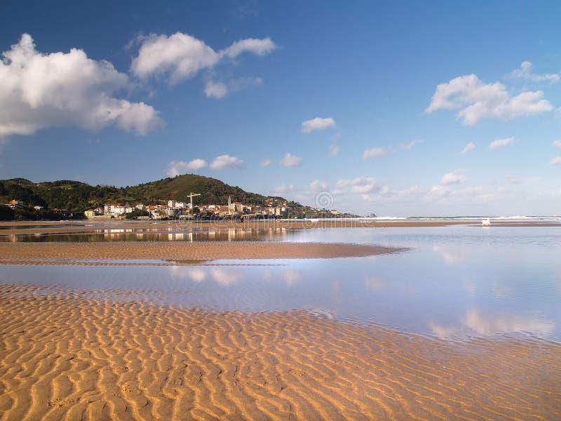Spiaggia in Vizcay, basco di Laida immagine stock libera da diritti