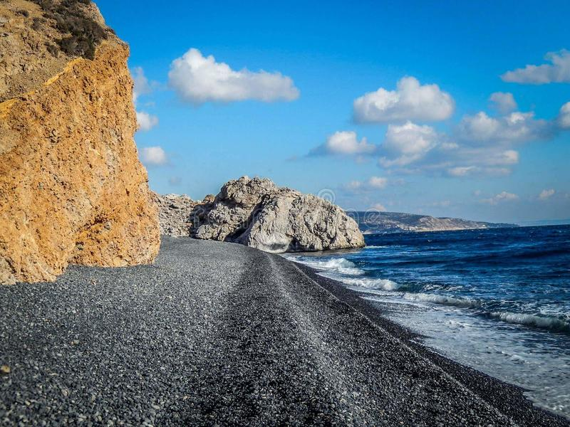 Spiaggia vulcanica fotografia stock