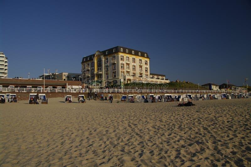 Spiaggia a Westerland, Sylt immagini stock
