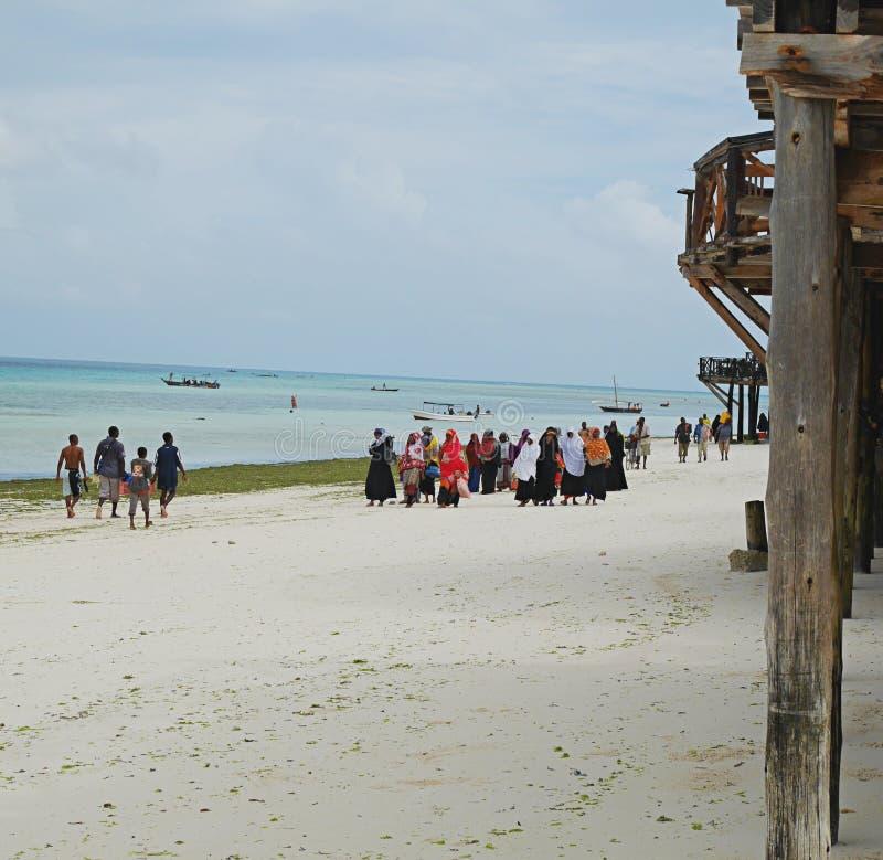 Spiaggia Zanzibar Tanzania di Nungvi fotografia stock