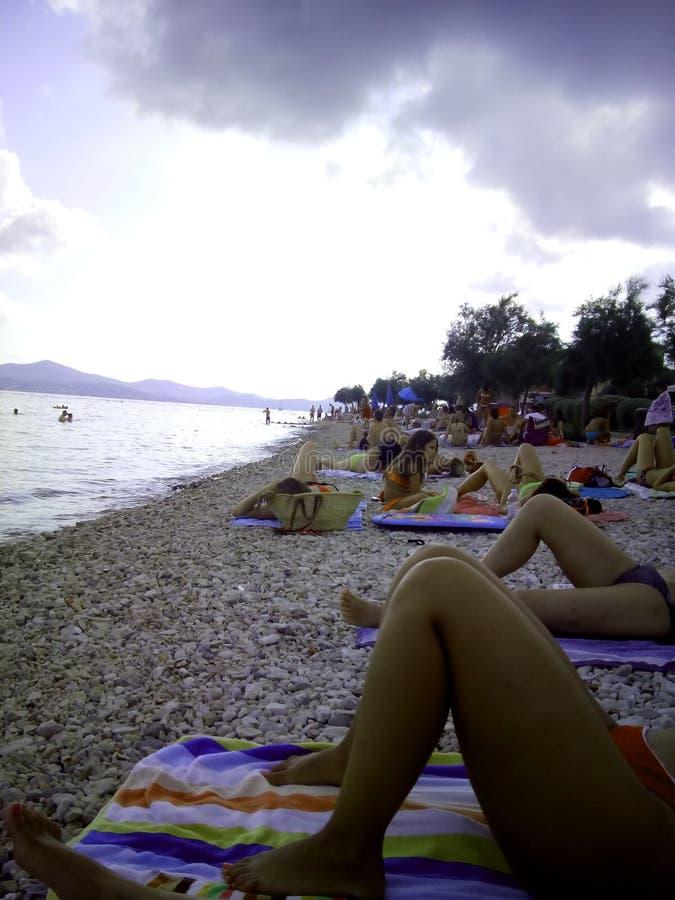 Spiaggia Zaton, Croazia di Zadar fotografia stock libera da diritti