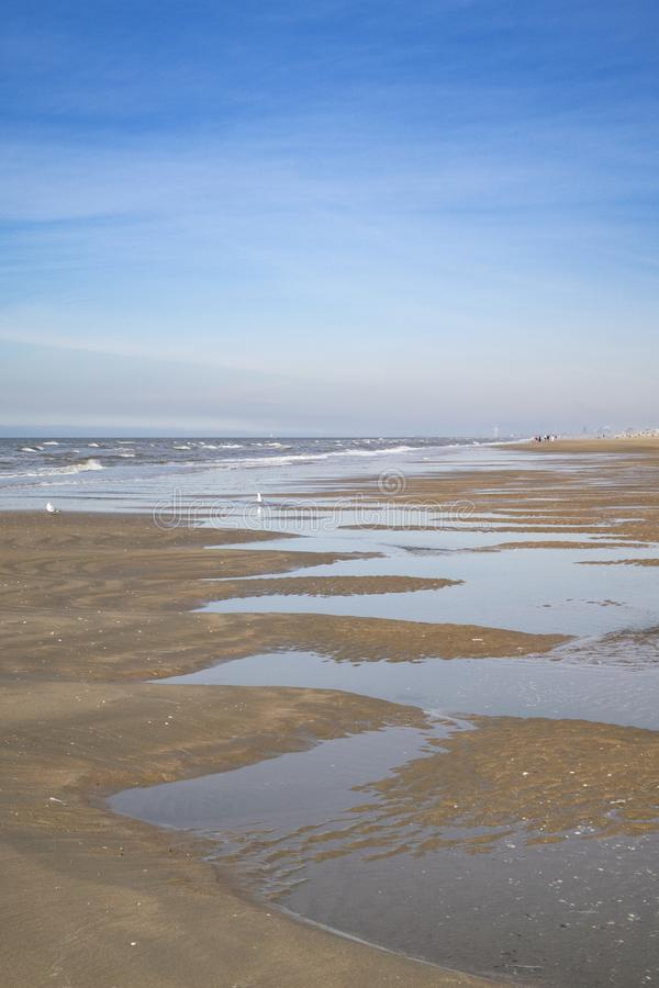 Spiaggia in zeta aan di Zandvoort fotografia stock libera da diritti