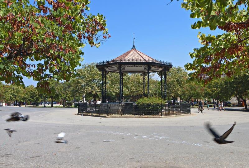 Spianada square at Corfu island royalty free stock photography