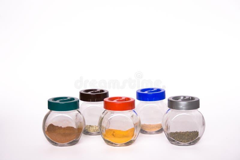 spic五颜六色的异乎寻常的瓶子 库存照片