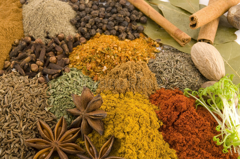 Spice. Colors of spice we use daily royalty free stock image