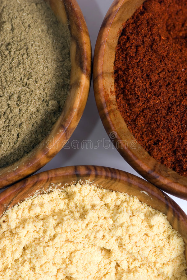 Download Spice Bowls 3 stock photo. Image of green, ingredients - 1602250