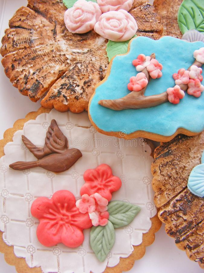 spice-cakes mothers day, spring picture for mothers day, easter royalty free stock photo