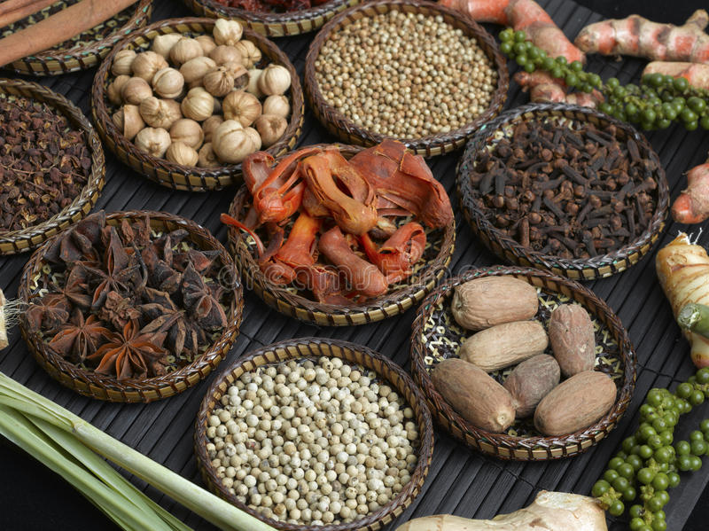 Download Spice Collection On Black Background Stock Image - Image: 12785903