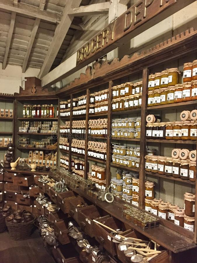 Spice and condiments store. In Colombo Sri Lanka royalty free stock photography