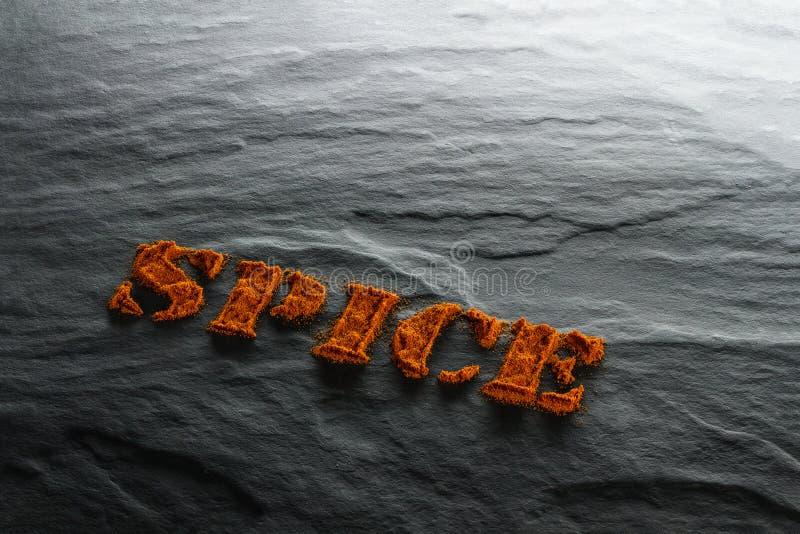 spice Fim à terra da paprika acima imagens de stock