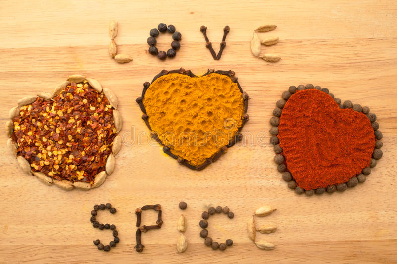Spice Hearts stock photography