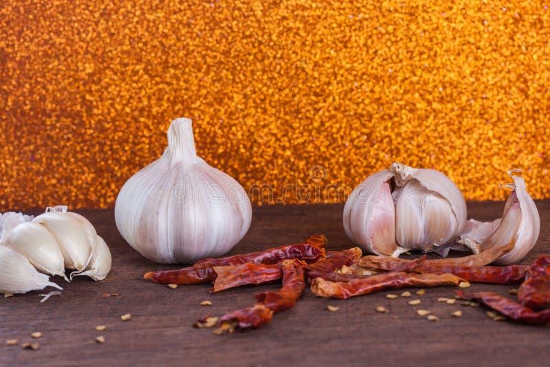 Spice herb garlic chilli stock photos