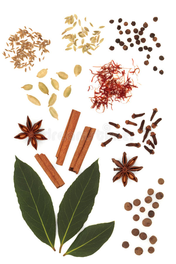 Spice and Herb Mixture royalty free stock photo
