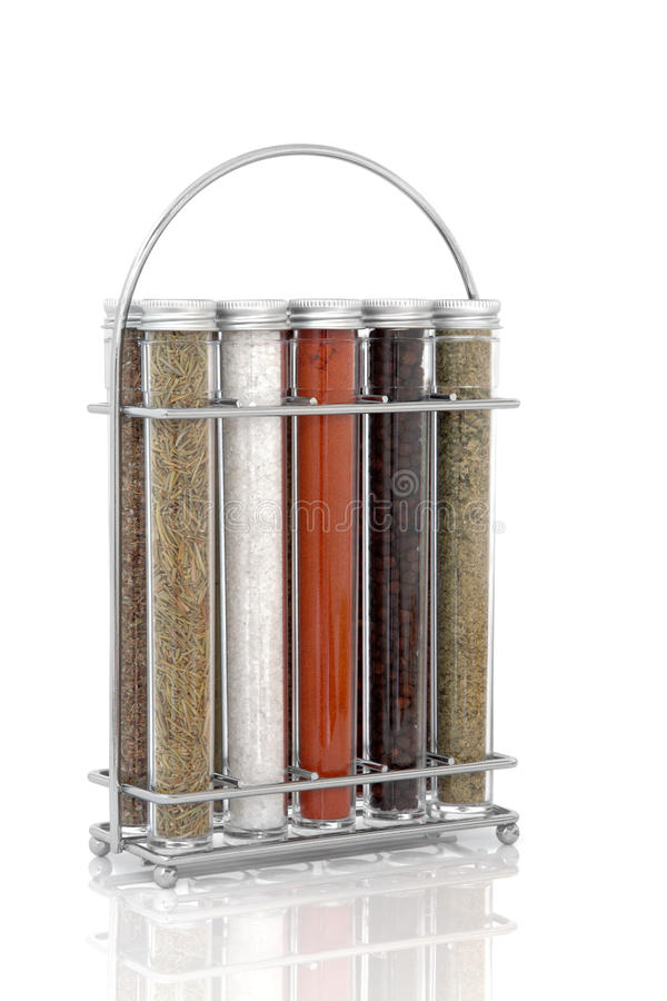 Spice and Herb Rack royalty free stock photos