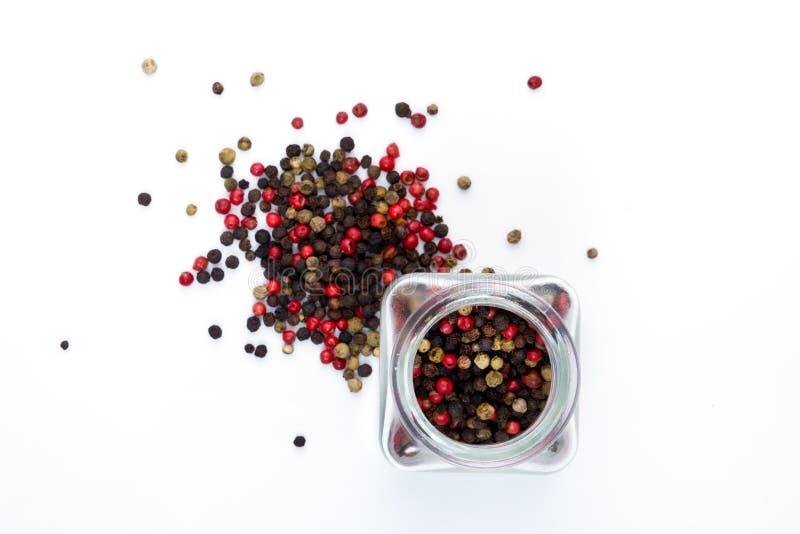 Spice in jar stock photos