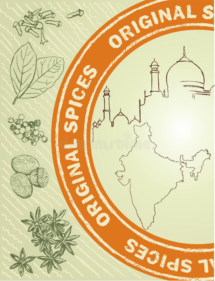 Spice label vector illustration