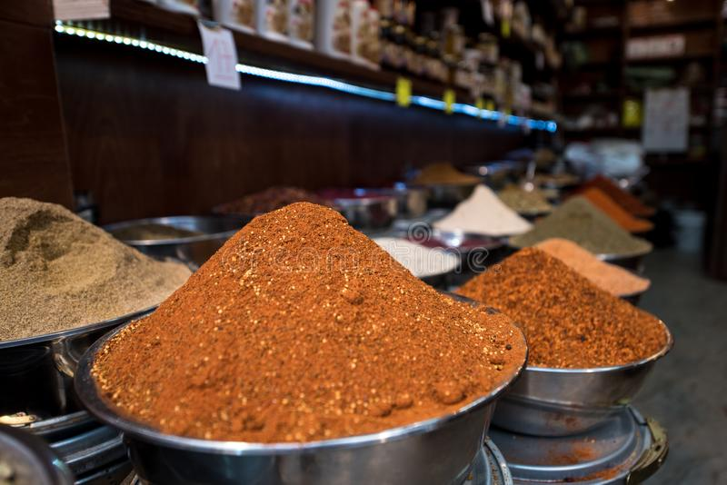 Spice Market. Different types of spice. royalty free stock photography
