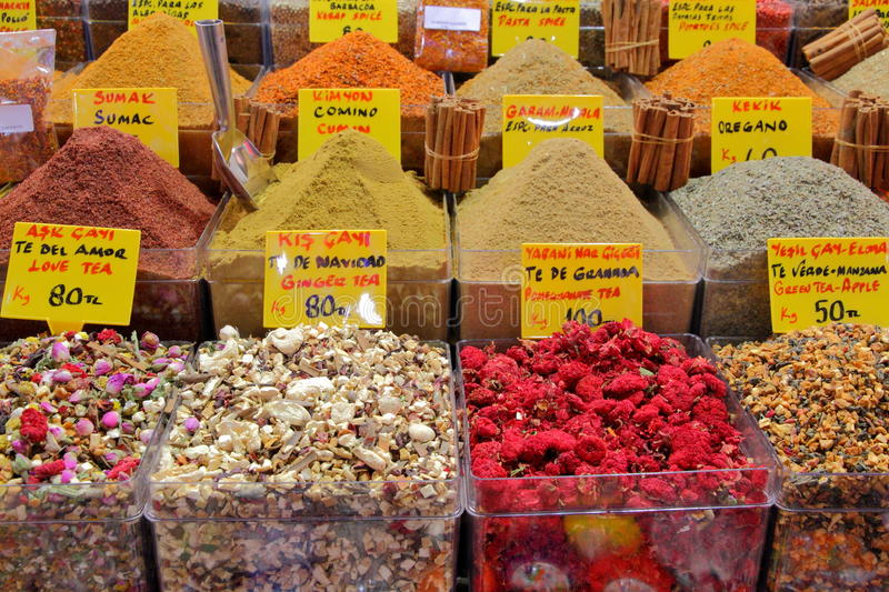 Spice Market In Istanbul Stock Photography