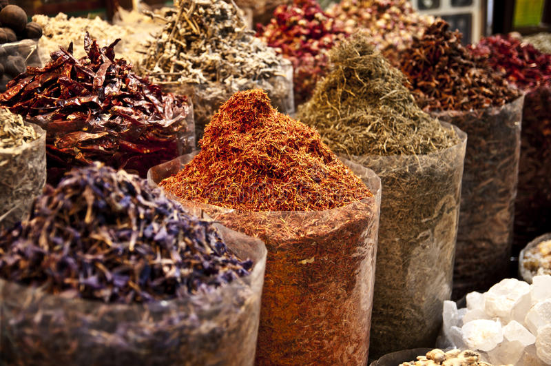 Spice market in the Middle East stock photos