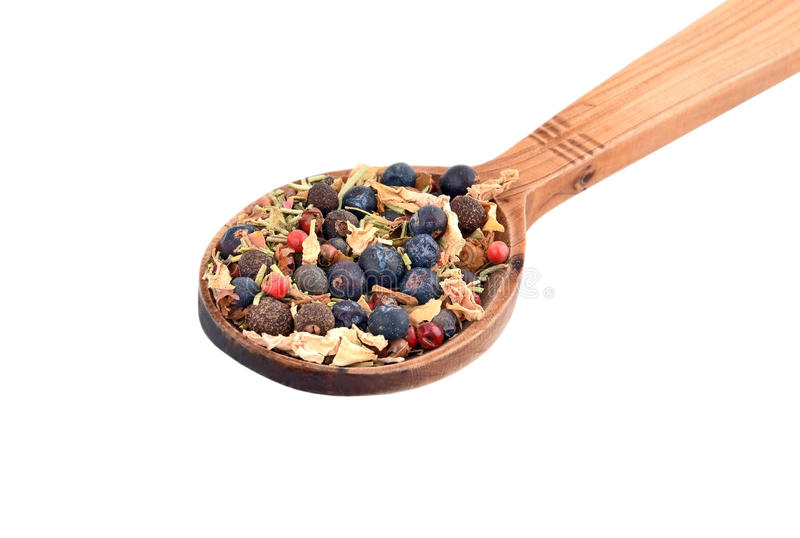 Spice Mix on a Spoon stock photo. Image of chili ...