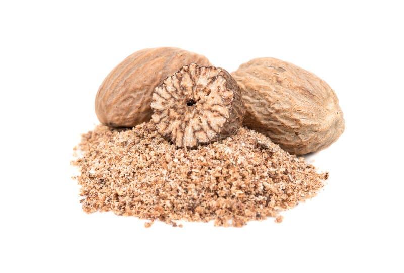 Spice nutmeg royalty free stock image