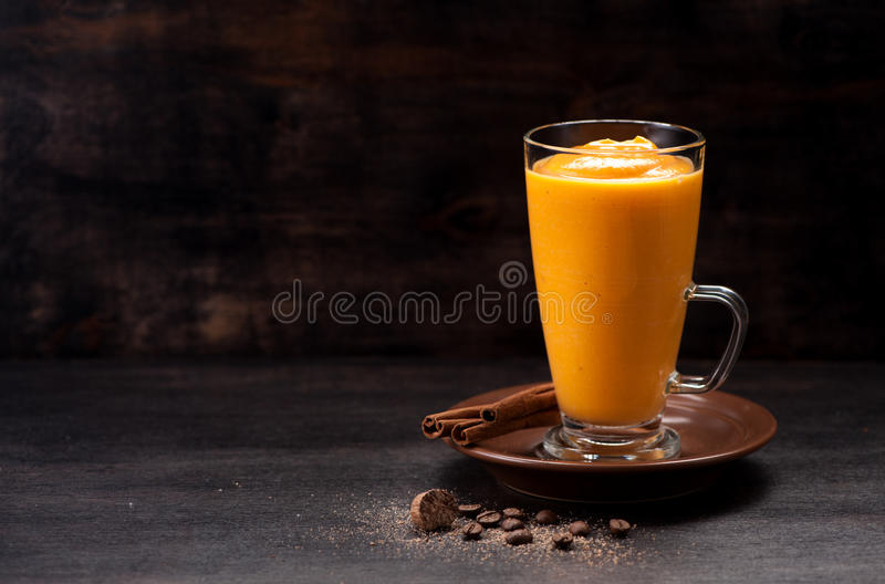 Download Spice Pumpkin Smoothie Stock Photo - Image: 83702887