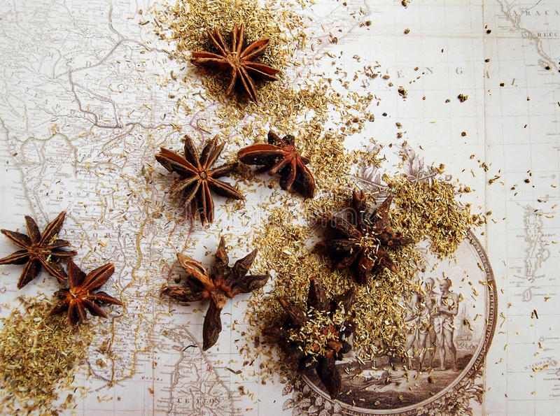 India Spice trade history concept image stock photography