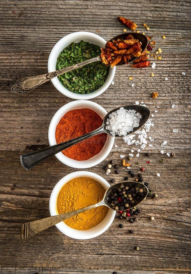 Spicec в шарах и ложках стоковое фото rf