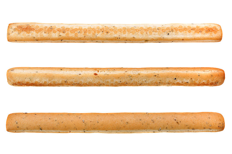 Spiced bread stick on white stock images