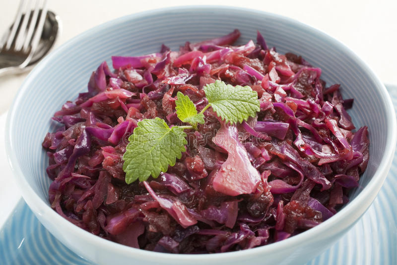 Spiced Red Cabbage with Apple stock image