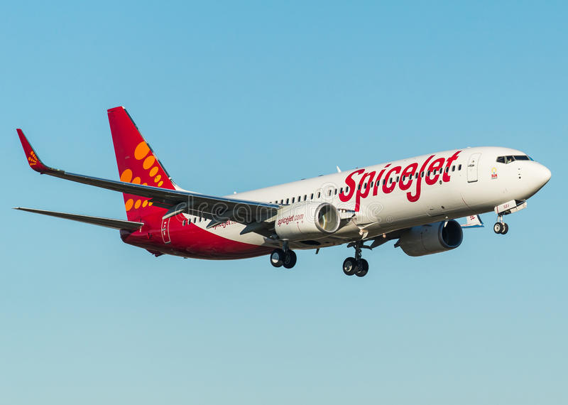 Spicejet Boeing 737-800 with winglets stock photo