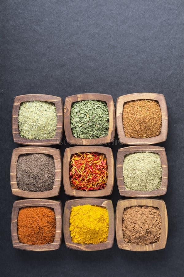 spices различное стоковая фотография