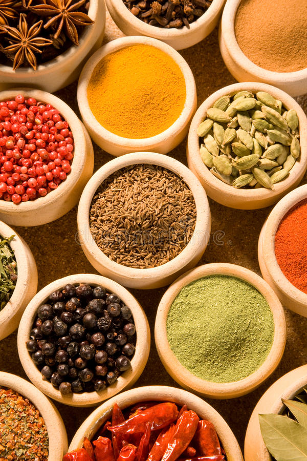 Download Spices stock photo. Image of pepper, beige, curry, laurel - 10815878